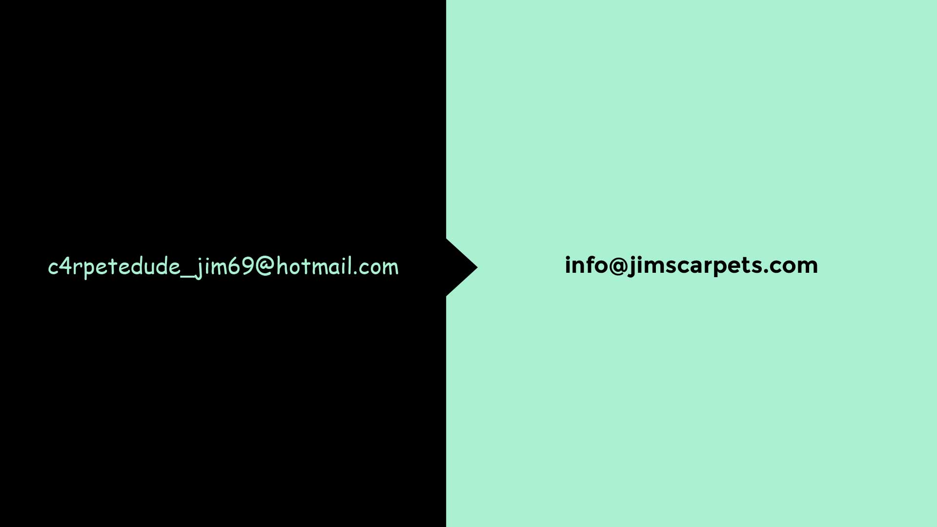 an unprofessional email address is easy to spot when compared to a professional email address