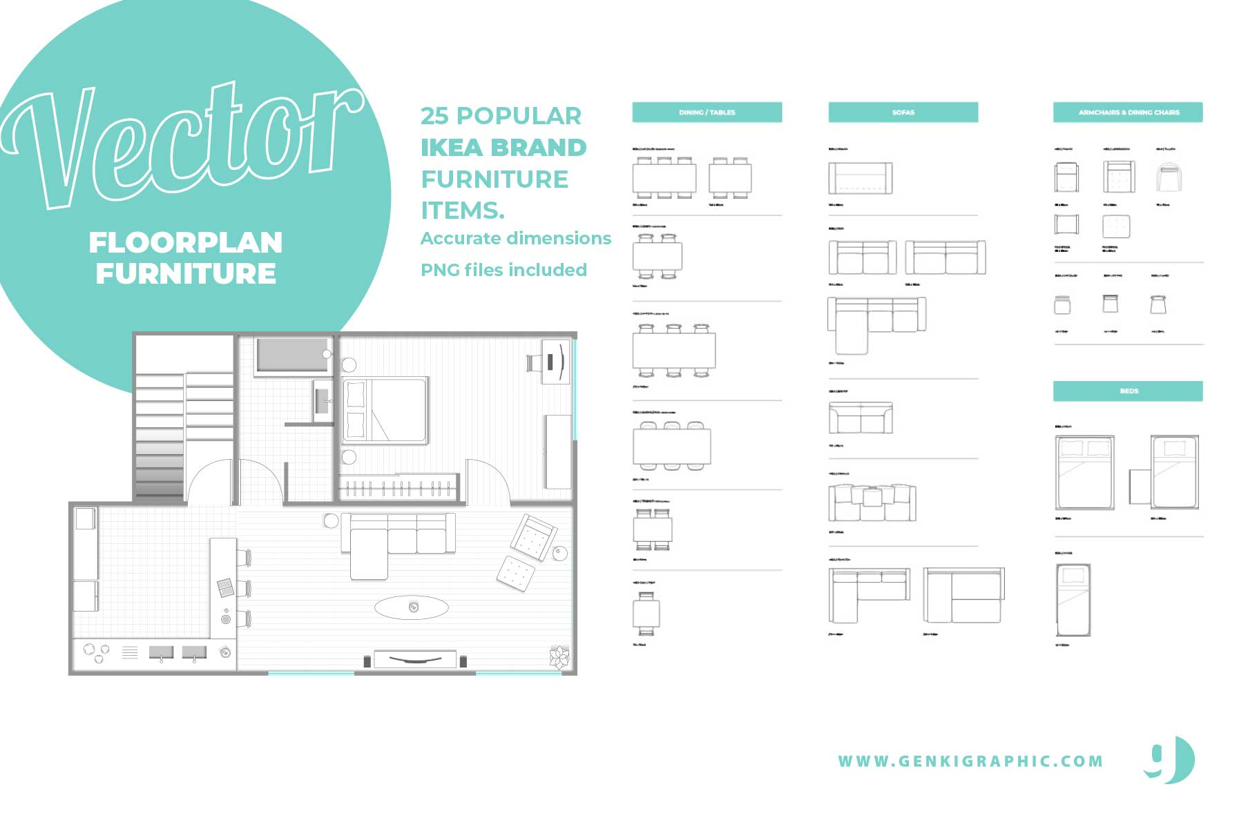 ikea furniture floorplan banner